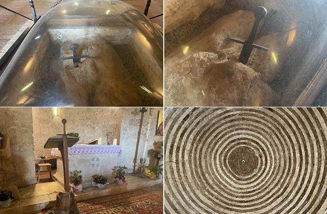 Spada nella roccia abbazia San Galgano